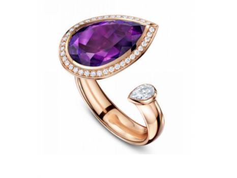Andrew Geoghegan Satellite Marquis Amethyst ring