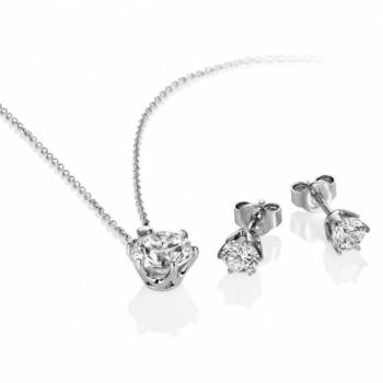 WIN a diamonfire six claw earrings and pendant set worth £90