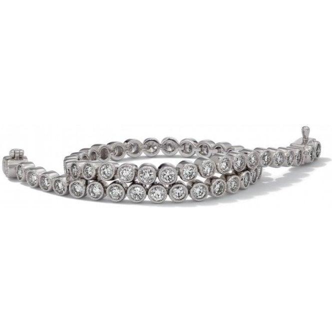 18 carat white gold diamond line bracelet, with 3.00 carats.