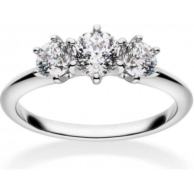 Mastercut 18ct White Gold 3 Stone Diamond Mastercut Ring