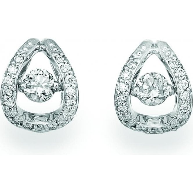 18ct White Gold Rhythm of Love Diamond Earrings