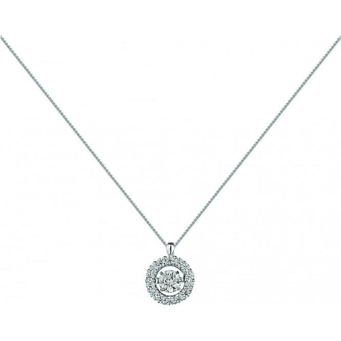 18ct White Gold Rhythm of Love Diamond Pendant