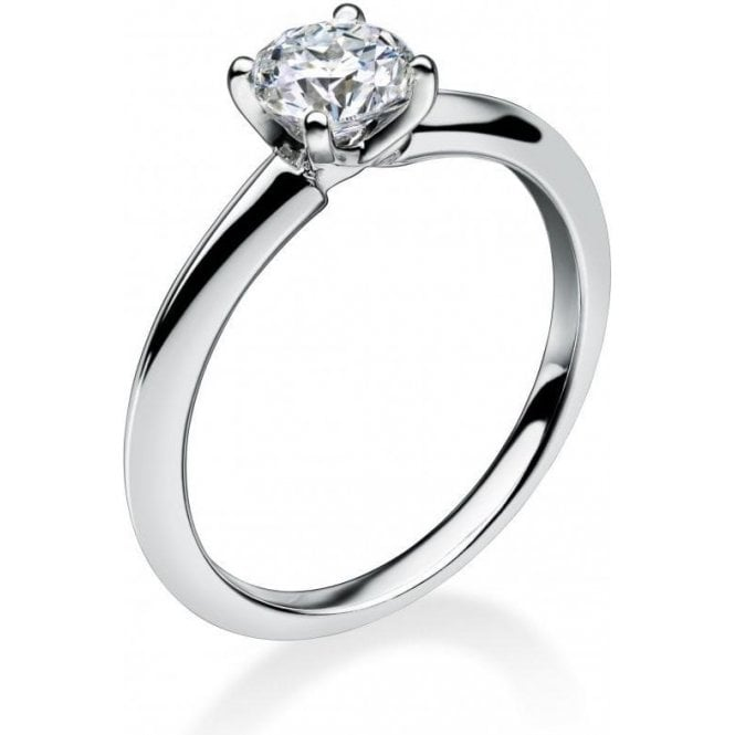 18ct White Gold Single Stone Mastercut Diamond Ring
