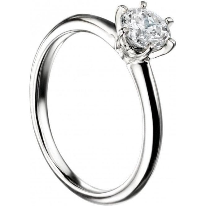 Mastercut 18ct White Gold Single Stone Mastercut Diamond Ring