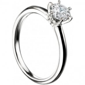 18ct White Gold Single Stone Mastercut Diamond Ring