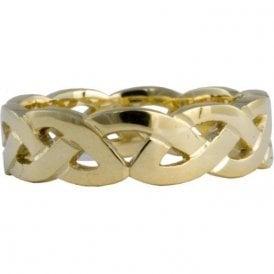 18ct Yellow Gold Celtic 5mm Wedding Ring