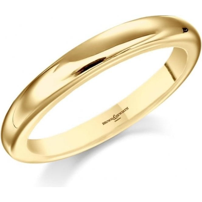 18ct Yellow Gold Ladies Plain Wedding Ring 2.5 mm