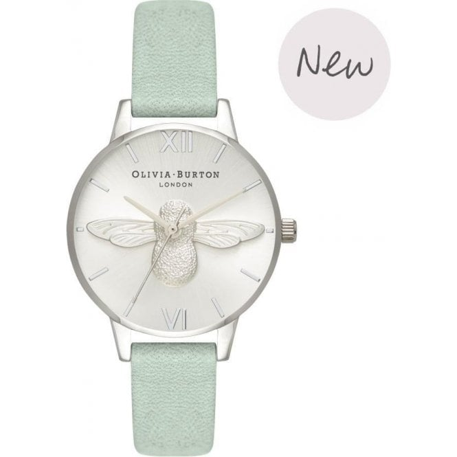 Olivia Burton Watches 3D Bee Sage & Silver OB16AM149