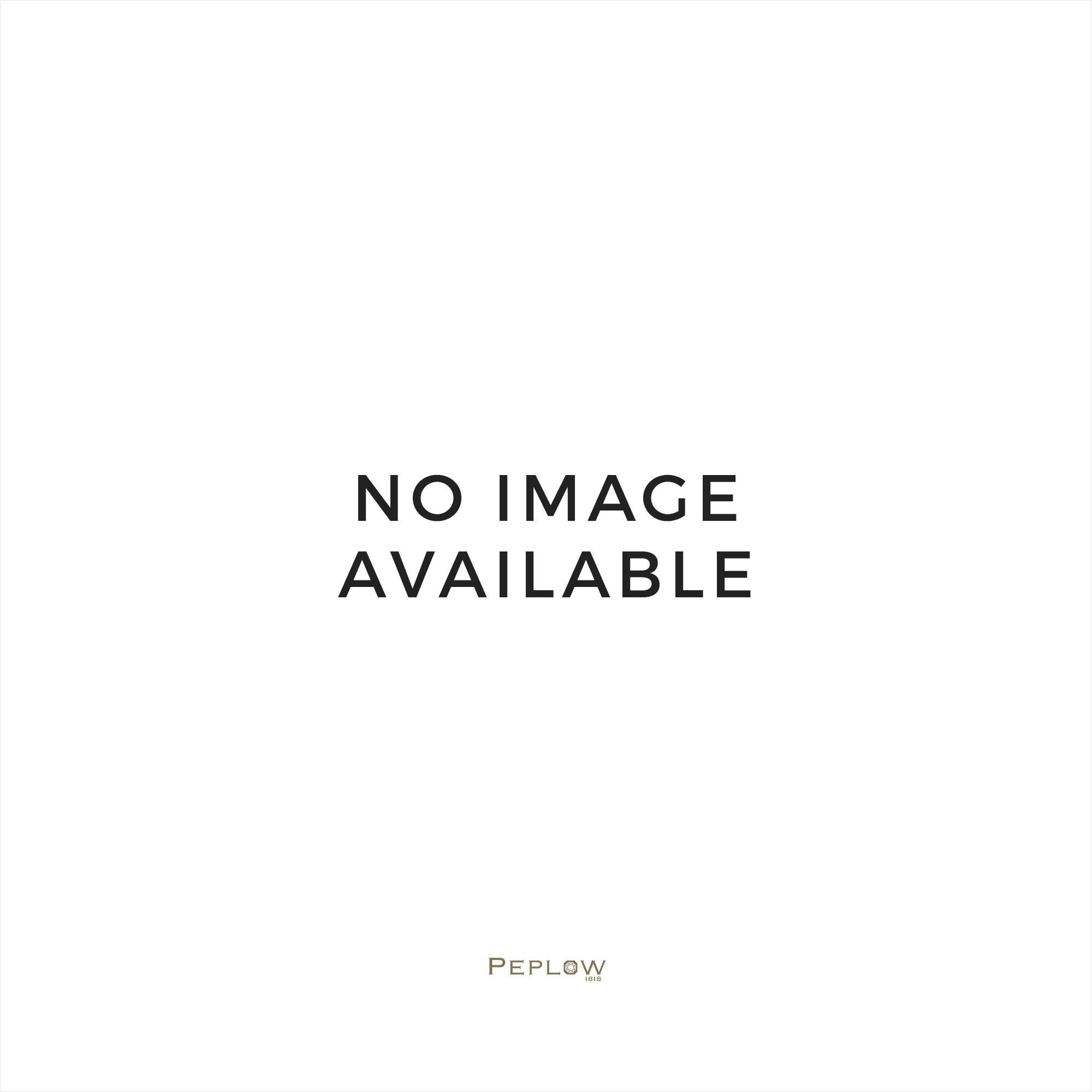 9 carat white gold circle twist stud earrings