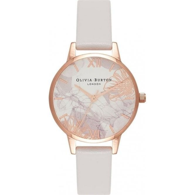 Olivia Burton Watches Abstract florals blush & rose gold watch OB16VM12