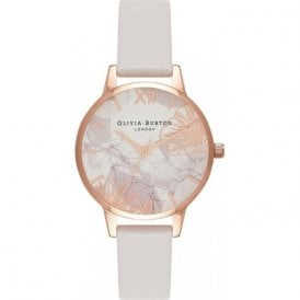 Abstract florals blush & rose gold watch OB16VM12