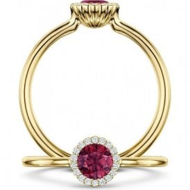Andrew Geoghegan 18ct Yellow Gold Ruby Reveal Ring
