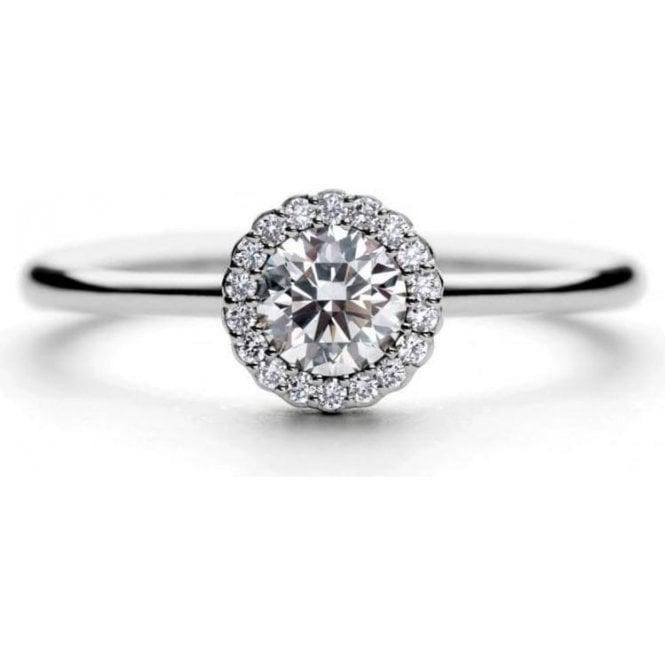 Andrew Geoghegan Platinum Cannele Twist diamond cluster ring