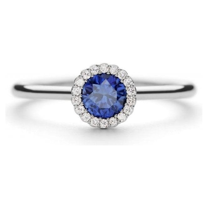 Andrew Geoghegan Sapphire & Diamond Cannelle Ring
