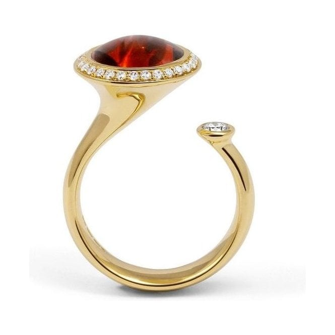 Andrew Geoghegan Satellite Madeira Citrine Cocktail Ring