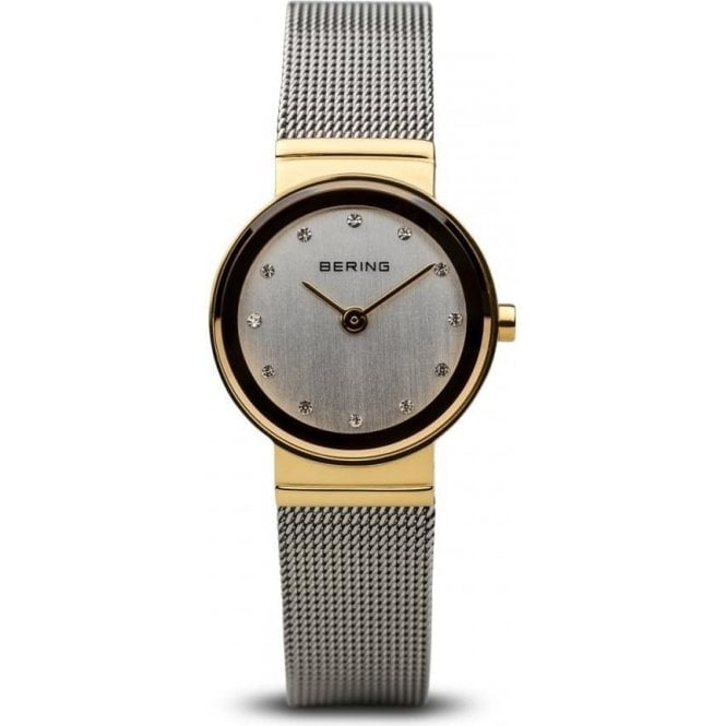 Bering Watches Bering Classic Gold Plated Stainless Steel White Dial Watch