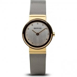 Bering Classic Gold Plated Stainless Steel White Dial Watch