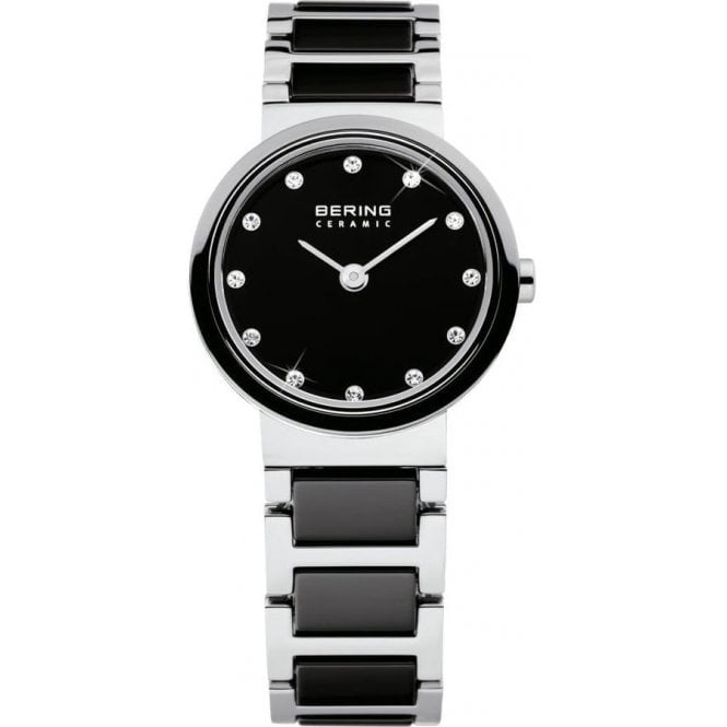 Bering Watches Bering Ceramic and Steel Watch with Black Bracelet