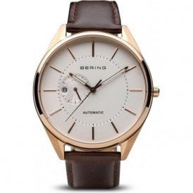 Gents rose PVD Bering automatic