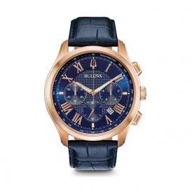 Bulova Men's Classic Blue Chronograph Watch