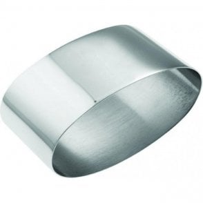 Carrs Silver Plated Plain Oval Napkin Ring