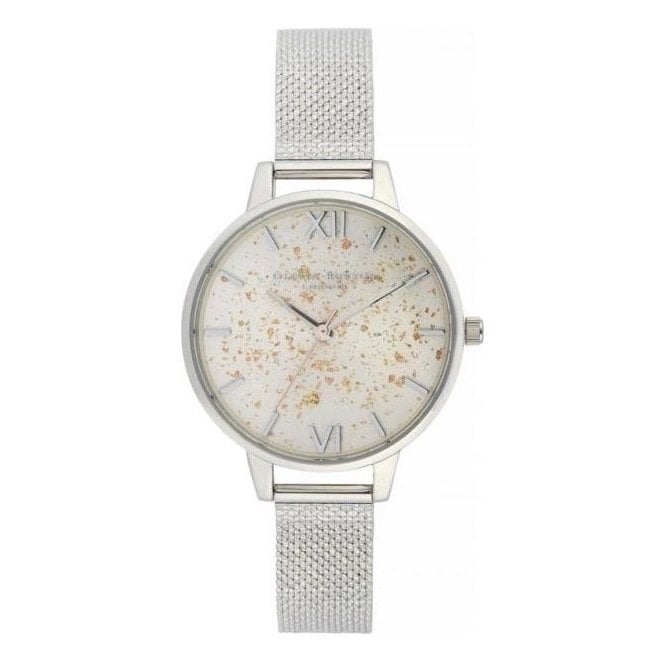 Olivia Burton Watches Celestial Demi Dial Watch with Boucle Mesh
