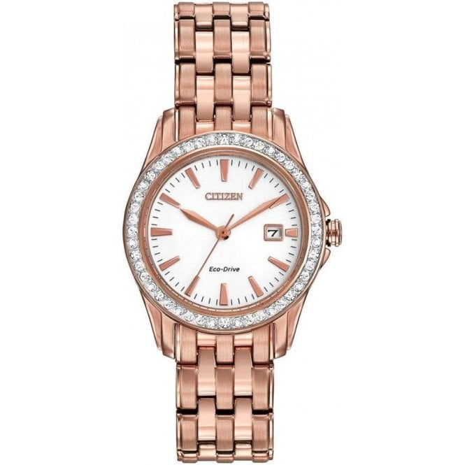 Citizen Watches Citizen Ladies Rose Gold Eco-Drive Watch EW1903-52A