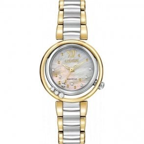 Citizen Ladies' Sunrise Diamond Eco-Drive Watch EM0324-58D