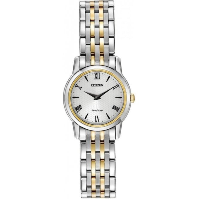 Citizen Watches Citizen Ladies Two-Tone Stiletto Eco-Drive Watch EG3048-58A