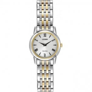 Citizen Ladies Two-Tone Stiletto Eco-Drive Watch EG3048-58A