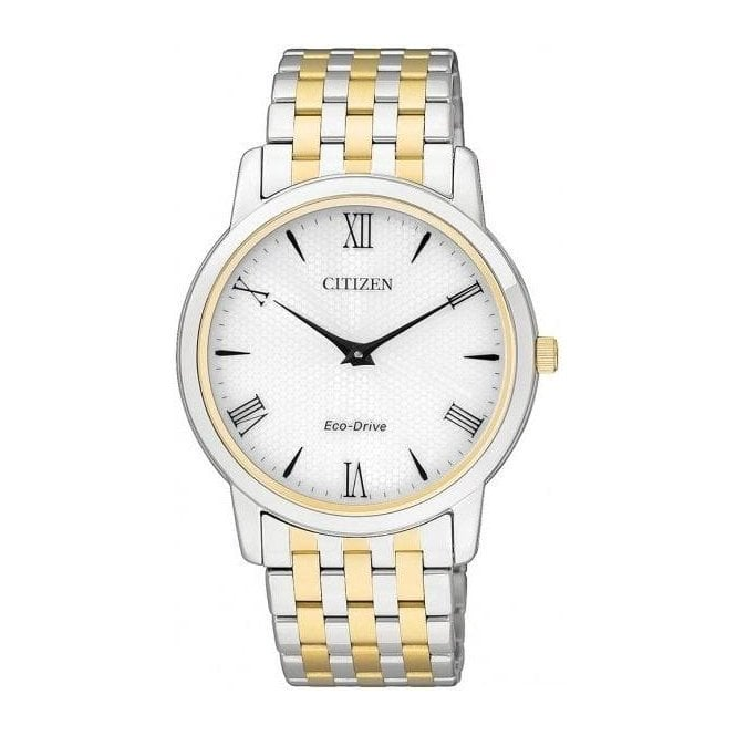 Citizen Watches Citizen Men's Stiletto Eco-Drive Two Tone Drive Watch AR1128-58A