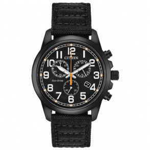 Citizen ECO DRIVE mens military Chronograph Watch AT0205-01E
