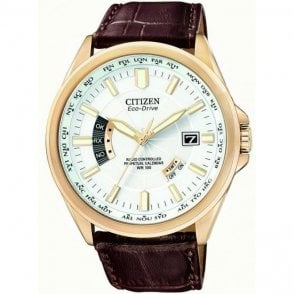 Citizen Gents Eco Drive Brown Leather Strap Watch