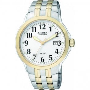 Citizen Gents Eco Drive Two Tone Watch
