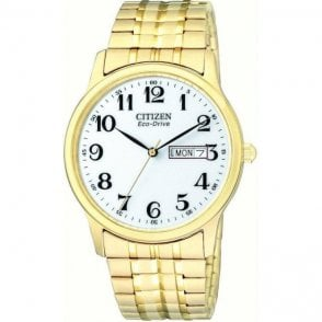 Citizen Gents Gold Plated Eco Drive Watch