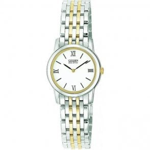 Citizen Ladies Eco Drive Two Colour Bracelet Watch