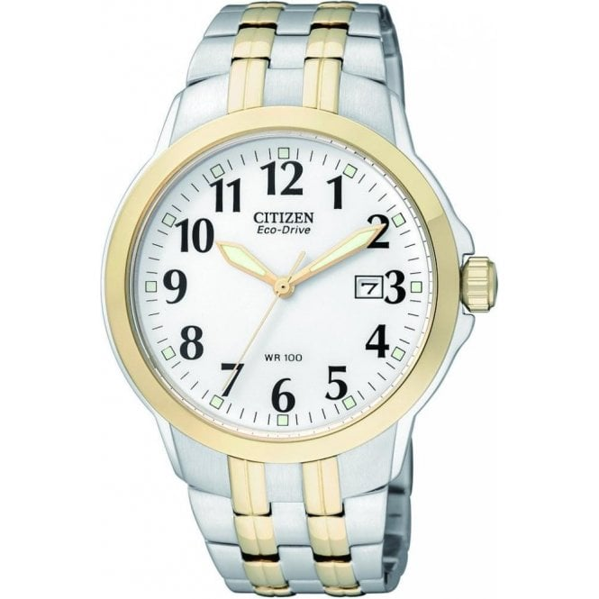 Citizen Watches Citizen Gents Eco Drive Two Tone Watch BM7094-50A