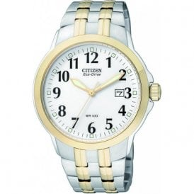 Citizen Gents Eco Drive Two Tone Watch BM7094-50A