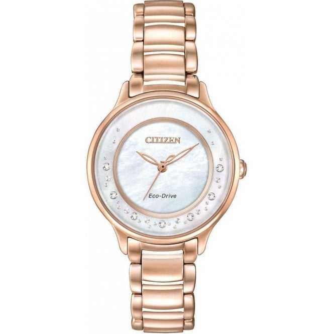 Citizen Watches Citizen Ladies Circle of Time Diamond Eco-Drive Watch EM0382-86D