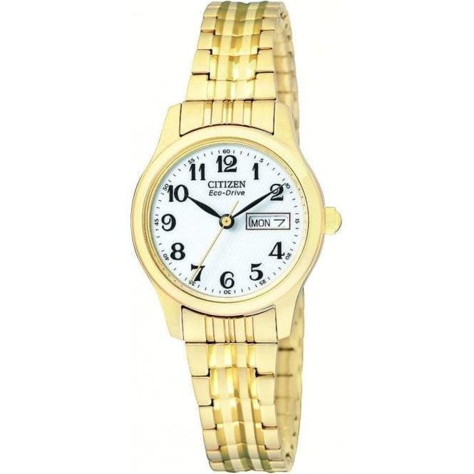 Citizen Watches Citizen Ladies Gold Plated Eco Drive Watch EW3152 95A