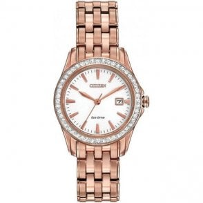 Citizen Ladies Rose Gold Eco-Drive Watch EW1903-52A