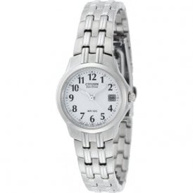 Citizen Ladies Stainless Steel Eco-Drive Watch EW1540-54A
