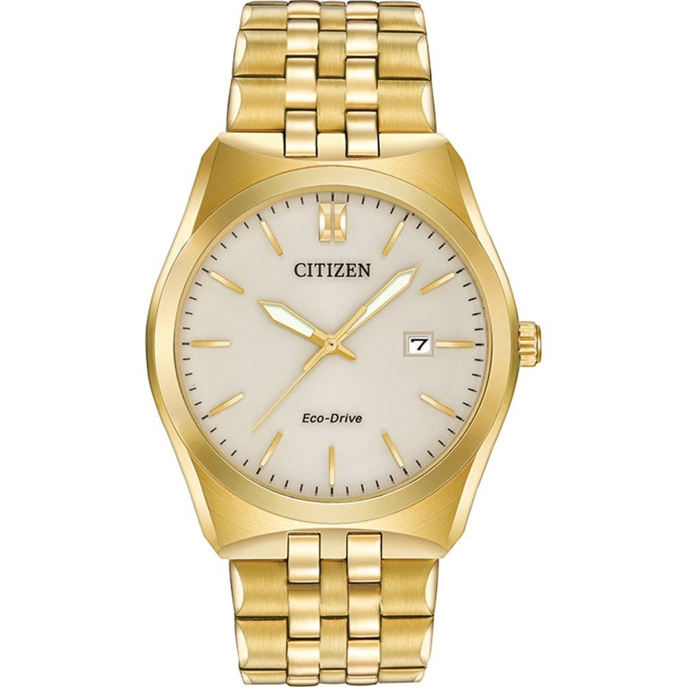 citizen s gold tone corso eco drive bm7332 53p
