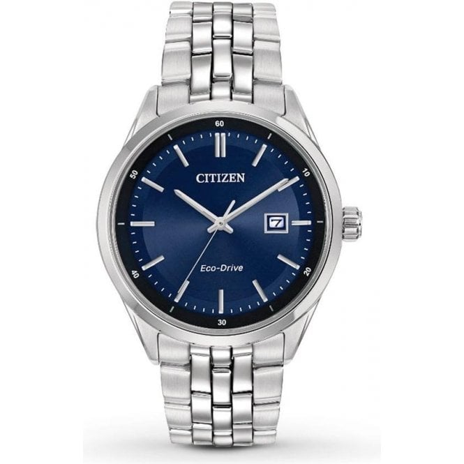 Citizen Watches Citizen Men's Stainless Steel and Blue Dial Eco-Drive Watch BM7251-53L