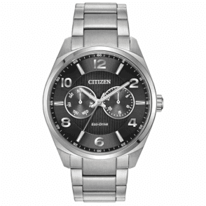 Gents steel Citizen Eco Drive watch, AO9020-84E