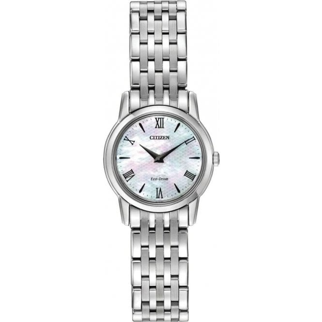 Citizen Watches Ladies Eco Drive Mother of Pearl Watch EG3040-50D