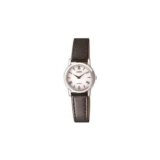 "Citizen Watches Ladies ""Stiletto"" Eco Drive Leather Strap Watch"