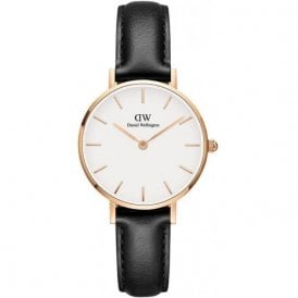 Classic Petite Sheffield 28mm rose plated watch, DW00100230