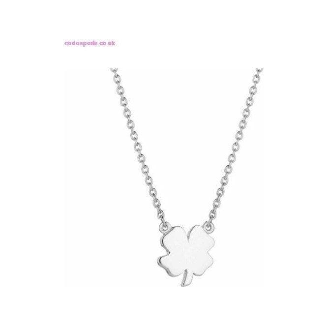 Daisy London Good Karma Silver Four Leaf Clover Necklace