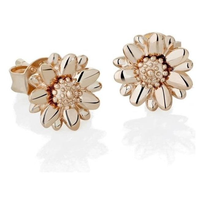Daisy London Rose Gold 8mm Daisy Stud Earrings